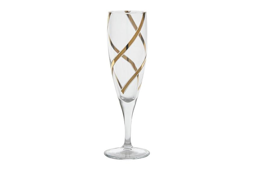 Vintage Champagne Gles 24k Gold